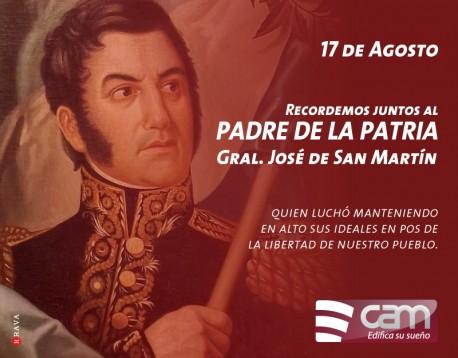 17 de Agosto - Paso a la Inmortalidad del  Gral. Jose de San Martín.