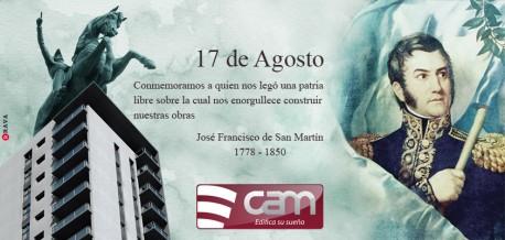 Conmemoración del fallecimiento del General José de San Martín.