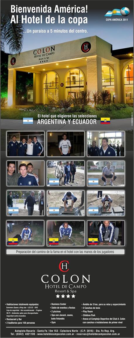Bienvenida América al Hotel de la Copa!