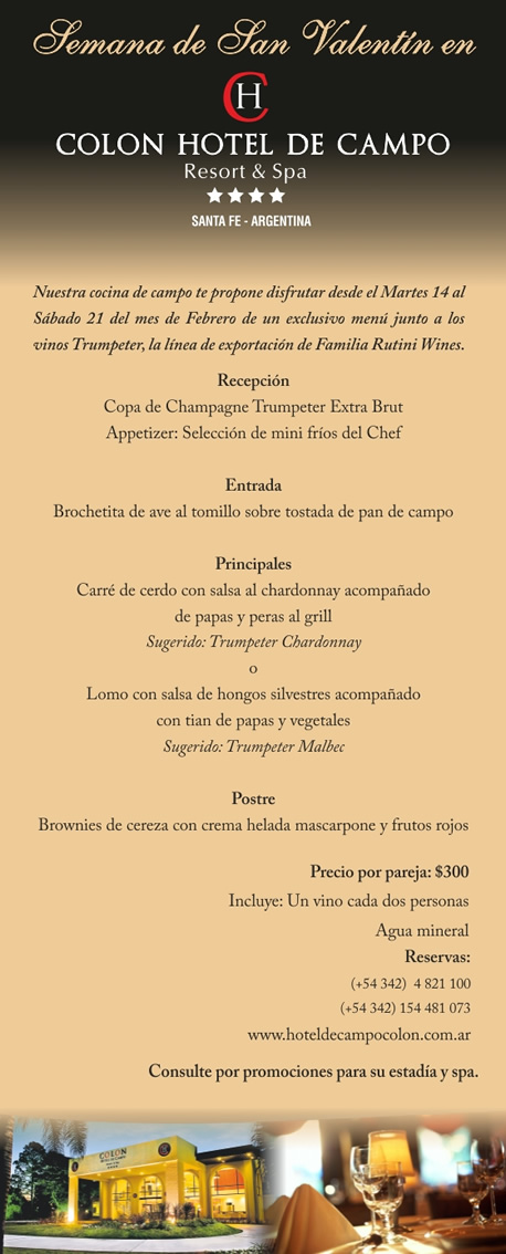 Semana de San Valentín en el Hotel de Campo Colón