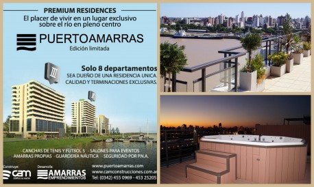 Premium Residences: El nuevo desarrollo de Puerto Amarras.