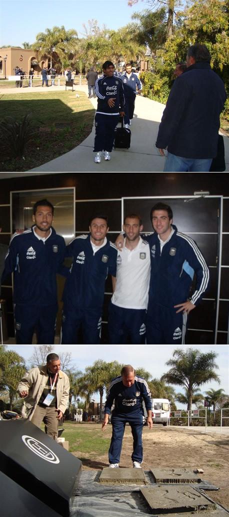 La estadía de la selección nacional de fútbol en el Hotel de Campo Colón