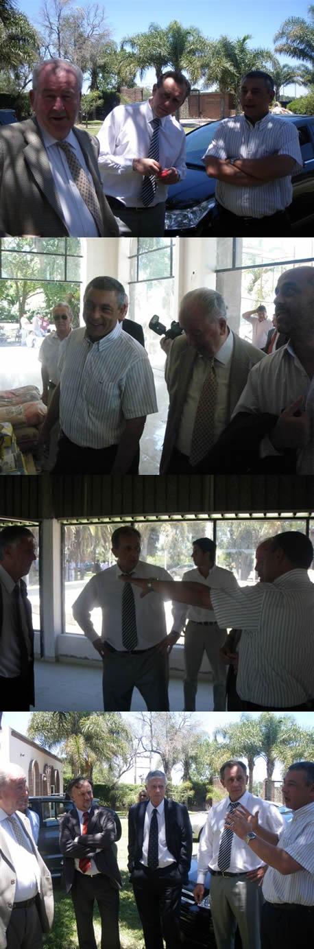 Visita de Julio Grondona al Hotel de Campo Colón