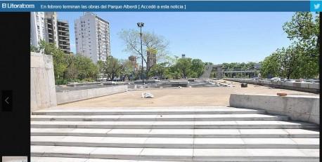 Diario El Litoral: Última etapa de Parking Alberdi.