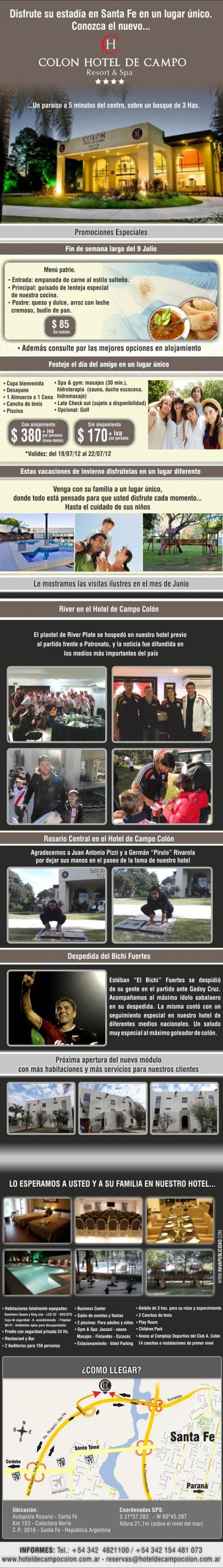 Novedades Julio 2012 Hotel de Campo Colon