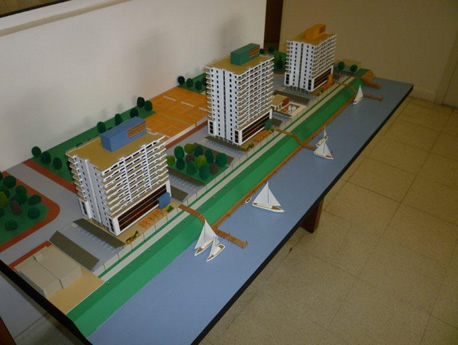 Presentamos la nueva maqueta del complejo Puerto Amarras
