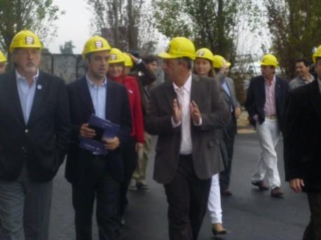 El intendente visito la obra de Puerto Amarras