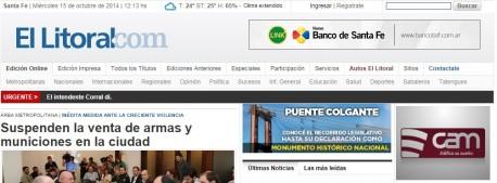 Nuevo banner en la Web del Diario El Litoral