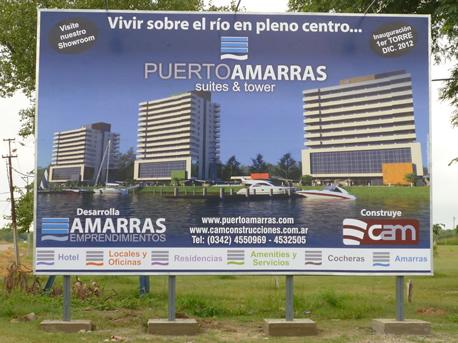 Nuevo cartel del proyecto Puerto Amarras