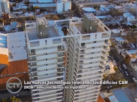 Edificios CAM capturados por drones en Cifras TV