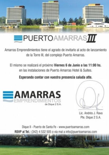 Lanzamiento Puerto Amarras