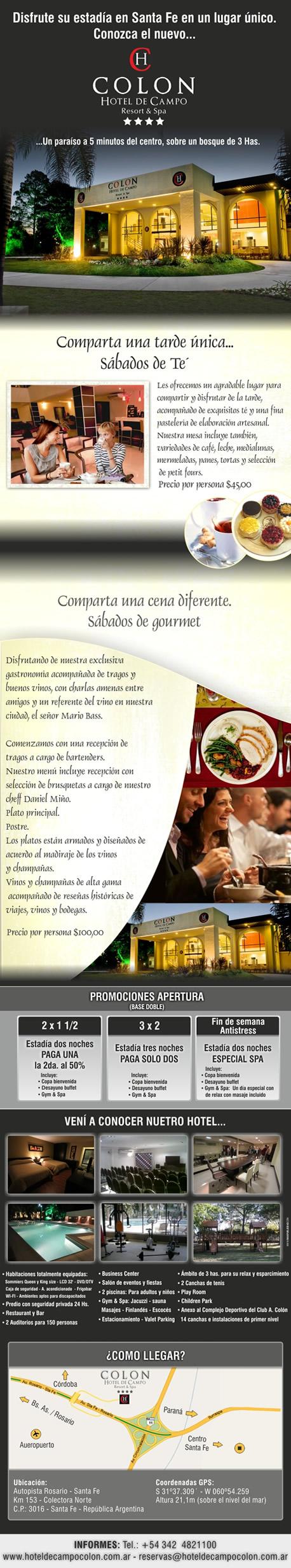 Sábados de té en el Hotel de Campo Colón