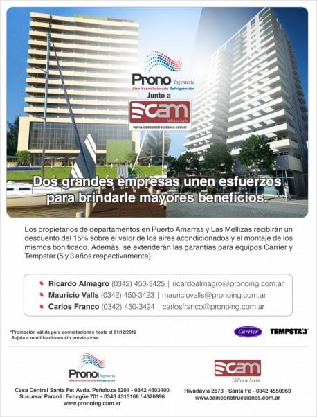 Descuento en Prono Ingenieria para propietarios de Puerto Amarras Suites & Tower y Las Mellizas Park & Towers