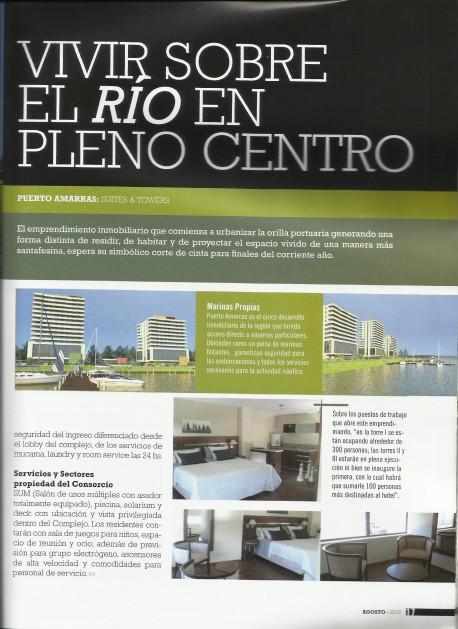 Puerto Amarras en el lanzamiento de una nueva revista en Santa Fe