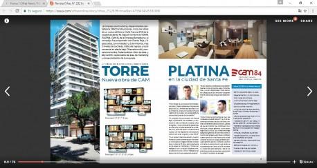 Torre Platina - CAM 84 en Revista Cifras
